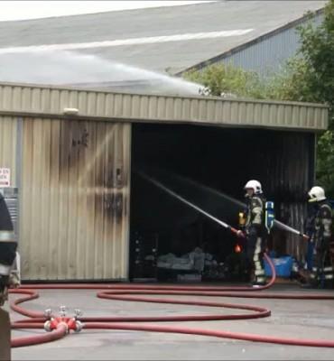 Grote brand verwoest Bakker Banket in Zwartsluis