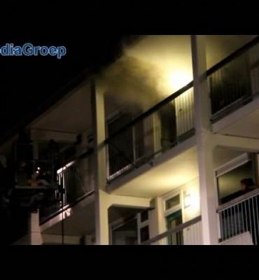 Slaapkamerbrand in flat Veenendaal