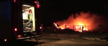 Grote schuur verwoest door brand in Drempt