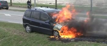 Kolham – Auto uitgebrand op de Rijksweg West
