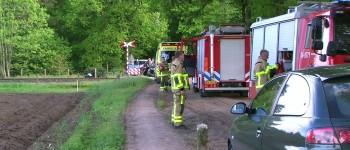 Trein schampt auto in Winterswijk bestuurster en medepassagier met de schrik