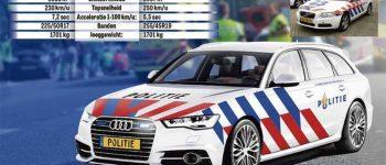 Snelle Audi quattro Nieuwe Politie auto