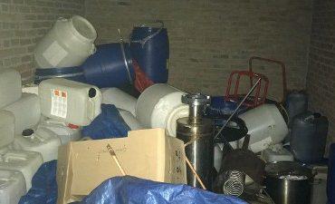 Eindhoven – Chemicaliën gevonden in garagebox