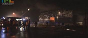 Zeer grote brand treft afvalbedrijf Van de Weijer in Panningen