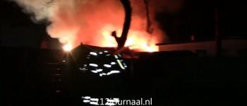 Uitslaande brand legt chalet op camping De Heische Tip volledig in de as