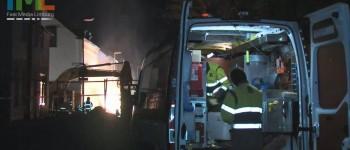 Gewonden en evacuatie bij brand in Gasleiding Heerlen 18-03-2013