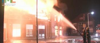 Grote uitslaande brand verwoest dorps cafe in Obbicht 01-04-2013