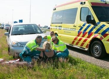 Gezocht – Doorrijden na kettingbotsing op autosnelweg bij Baarn