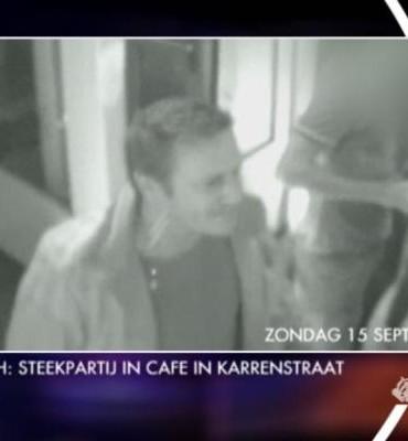 Gezocht – Bewakingsbeelden met verdachte van steekpartij in café