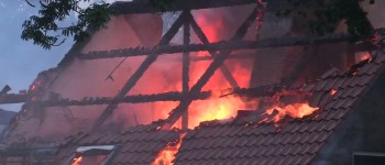 Grote brand in Giethoorn