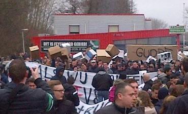 Rotterdam – Circa 250 aanhoudingen bij duel Feyenoord