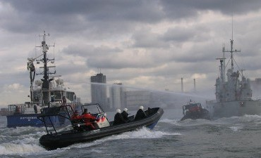 Rotterdam – Grote oefening in Rotterdamse haven