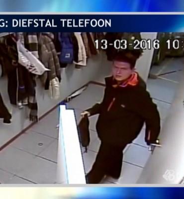 Tilburg – Gezocht – Wie steelt hier een mobiele telefoon?