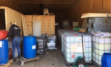 Uden/Zeeland – Opslagplaatsen voor grondstoffen harddrugs ontdekt