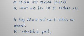Zwolle – Gezocht – Briefschrijver in verband met woningoverval 2003 gezocht