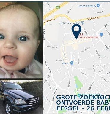 Eersel – Gezocht – Grote zoektocht naar ontvoerde baby