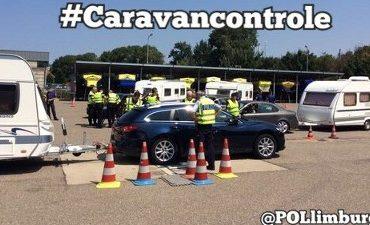Limburg – Tientallen caravans van vakantiegangers gecontroleerd