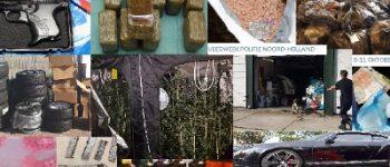Noord-Holland – Politie Noord-Holland vindt wapens, geld, auto's en drugs tijdens grote veegactie