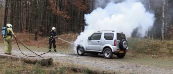 Autobrand in Staatsbos bij Gasselte ( video )