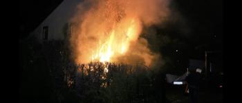 Fikse coniferenbrand in Gieten