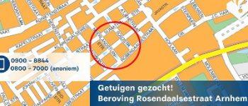 Arnhem – Straatroof Arnhem, de politie zoekt getuigen