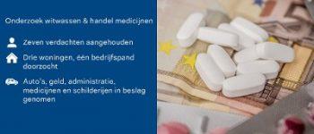 Groningen e.o. – Onderzoek naar witwassen en handel in medicijnen