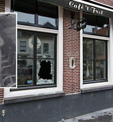 Vianen – Gezocht – Brand gesticht bij café