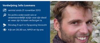 Roosendaal – Verdwijning Jelle Leemans in Opsporing Verzocht
