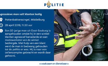 Middelburg – Agressieve man valt klanten lastig en bedreigt medewerkster