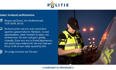 Bergen op Zoom – Onder invloed van amfetamine achter het stuur
