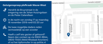 Amsterdam – Getuigenoproep plofkraak Hendrik de Bruynstraat