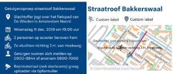 Amsterdam – Getuigenoproep beroving tiener Bakkerswaal