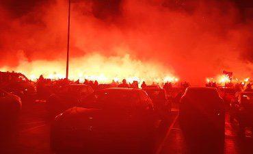 Rotterdam – Drie aanhoudingen na ongeregeldheden met 'supporters' van Feyenoord